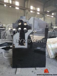 Customized Black Stone Granite Cross Headstone / Tombstone pictures & photos