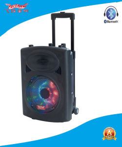15′′ Trolley Battery Speaker with Multi-Colored Light F6827D pictures & photos