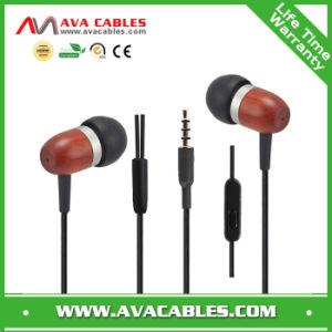 in-Ear Wooden Stereo Earphone Earbuds Earpods