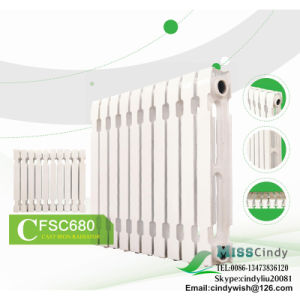 White Plastic Paint Cast Iron Radiators with Carton Box and Fittings for Russia Market pictures & photos