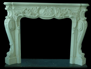 White Marble Stone Fireplace pictures & photos