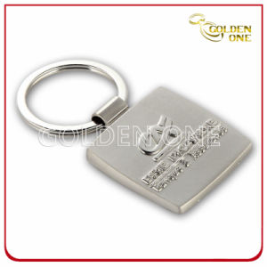 Fashion Design Embossed Nickel Plated Metal Key Ring pictures & photos