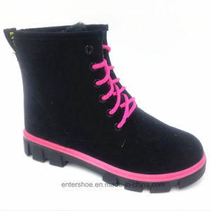 MID-Calf Lace up Suede Lady Warm Boots (ET-CH160271W) pictures & photos