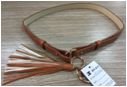 Fashion PU Leather Belt with Tassels Decorated
