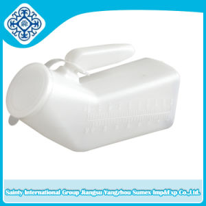 Male Urinal with Clear Lid for Repeated Use pictures & photos