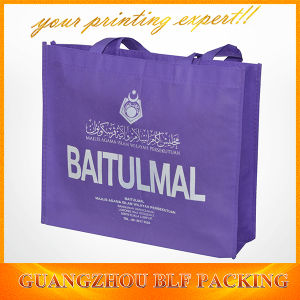 White Logo Printed Purple Non Woven Promotional Bags (BLF-NW022) pictures & photos