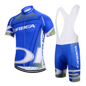 Custom Men Sublimated Short Sleeves Cycling Jersey and Bib Shorts pictures & photos
