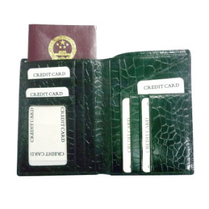 Top Grade Genuine Leather Passport Holder pictures & photos