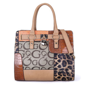 Yiwu Women PU Leather Cheap Tote Handbag pictures & photos