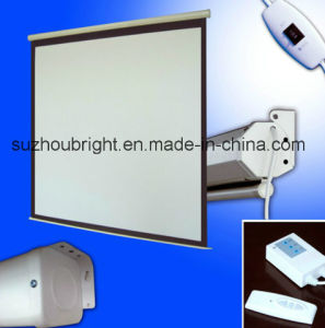 60-300 Inch Electric Projector Screen Best Motorized Projector Screen pictures & photos