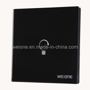 OEM/ODM RF Radio Frequency Tempered Glass 1 CH Remote Control Smart Switch