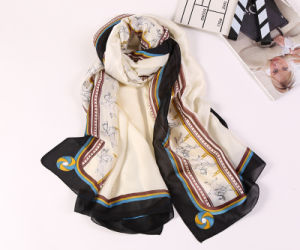 Flower Color Printed Silk Lady Pashmina Viscose Scarf pictures & photos