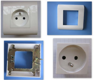 Module Design PC Material Grounding 2p+T French Type Socket pictures & photos