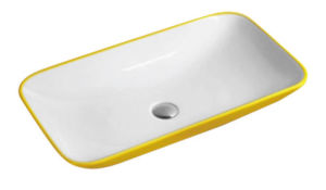 Yellow Suqare Art Wash Vanity CE-P533 pictures & photos