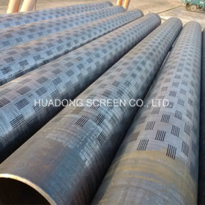 CNC Laser Cutting Slotted Pipe API Casing Pipe Round Hole Drilled Pipe pictures & photos