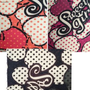 Letter Polyester Cabinet Fabric/Bag Cloth