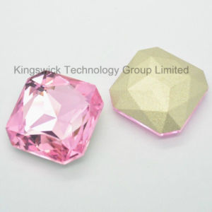 Light Pink Square Crystal Fancy Stone for Jewelry pictures & photos