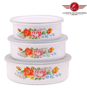 White Color Enamel Bowls with High Quality pictures & photos