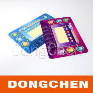 Fashion Colorful Printed Plastic Graphic Overlay for Game Player pictures & photos
