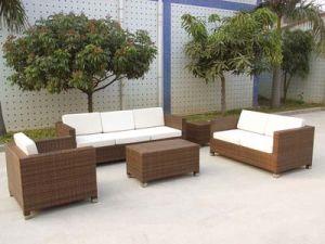 Outdoor Sofa PE Ratan Furniture Whoelsae pictures & photos