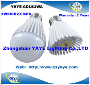 Yaye Top Sell High Quality Factory Price SMD5730 3W E27 LED Bulb with USD2.08/PC & 2 Years Warranty pictures & photos