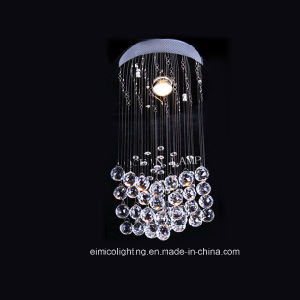 Round Base Chrome Chandelier Crystal Lamp (Cw003)