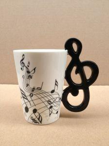 Fine Bone China Mug with Musical Note Handle
