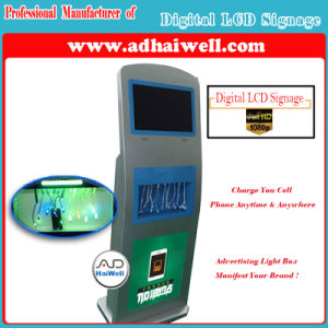 Digital LCD Signage 9 Secure Lockers Fast Free Recharger Mobile Phone Charging Kiosk pictures & photos