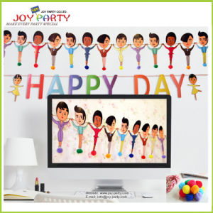 Paper Banner with Happy Day Garlands for Party Decoration pictures & photos