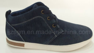 Fashion High Top Washed Denim Casual Shoes pictures & photos