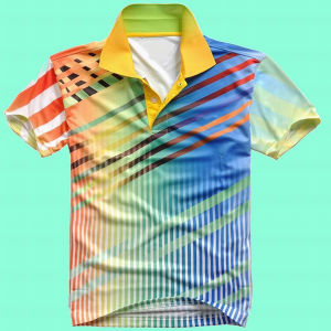 Fashion Nice Cotton/Polyester All Over Printed Polo Shirt (P058) pictures & photos
