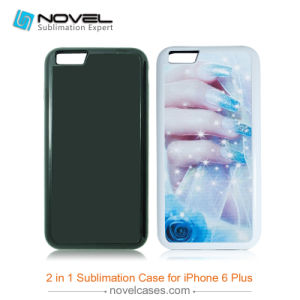 New 2D DIY Plastic 2in 1 Heavy Duty Cell Phone Case for iPhone 6 Plus, Sublimation Blanks