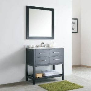 Two Color Soild Wood Bathroom Cabinet (DS05) pictures & photos