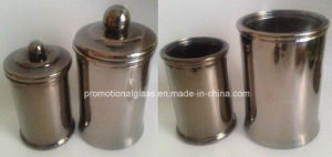 Metallic Color Glass Candle Jar with Lid