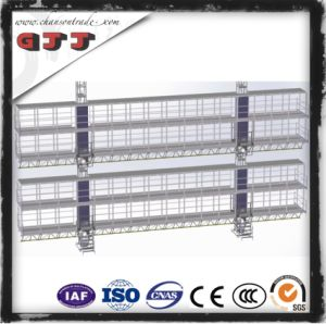 GJJ SCP Type Suspended Safety Work Platform for Building Construction Two Levels Double Columns Double Floors
