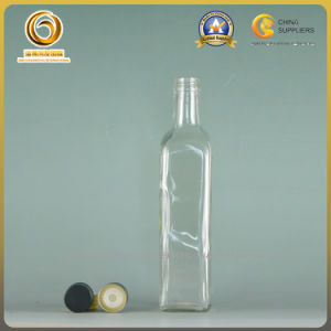 China Supplier Cheap Flint Color Glass 500ml Oil Bottle (127) pictures & photos