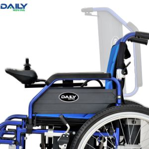 24 Inch Folding Electric Power Wheelchair with Aluminum Frame Dp603 pictures & photos