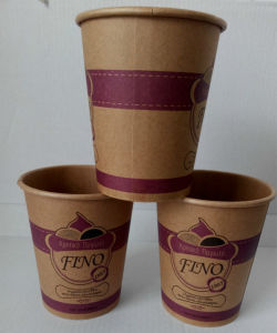 Double Wall Paper Cup Made of Brown Paper