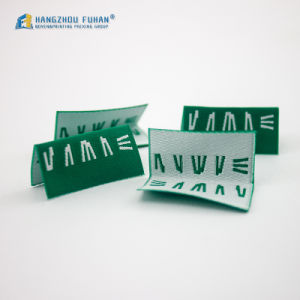 Hangzhou Fuhan Factory Garment Customized 100% Polyester Clothing Woven Labels pictures & photos