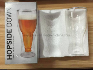 Fashionable Bar Drinkware Creative Upside Clear Beer Glass Cup pictures & photos