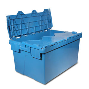 Attached Lid Container, Plastic Stoarage Container (PK6040) pictures & photos