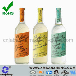 Glossy Weather Resistant Clear Private Wine Self Adhesive Bottle Stickers pictures & photos