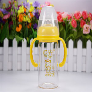 180ml Wide Neck Baby Glass Bottle with Handles pictures & photos