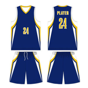 Customized Youth Sublimated Reversible Basketball Jersey with Breathable Fabric pictures & photos