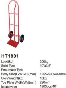 China Manufacture High Quality Ht1801 Hand Truck/Hand Trolley pictures & photos