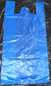 HDPE Blue T-Shirt Bag pictures & photos