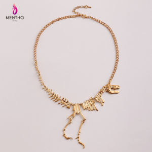 European and American Statement Personal Dinosaur Skeleton Alloy Necklace pictures & photos