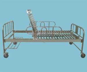 Bossay One Crank Adjustable Stainless Steel Hospital Bed pictures & photos