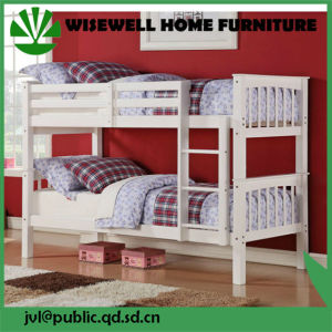 Solid Pine Wood Bunk Bed for School Furniture (WJZ-357A) pictures & photos