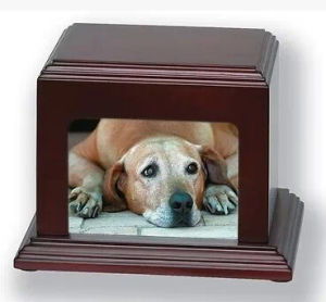 Wood Dog Cremation Ashes Urns with Photo pictures & photos
